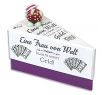Geschenkschachtel Torte weiß-lila  3 Stück