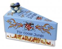 Geschenkschachtel Torte,blau, 1 Stück